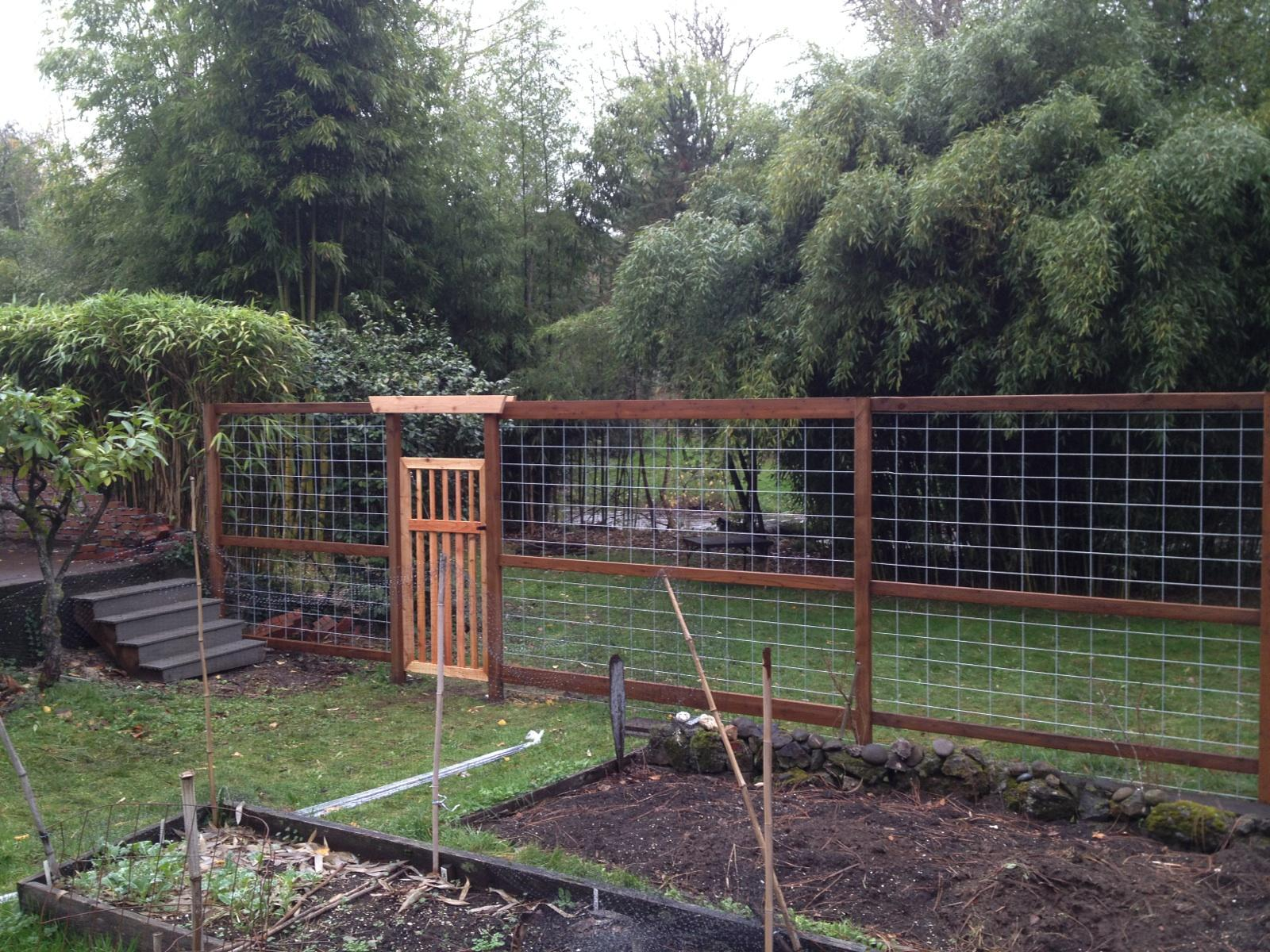 Tall Garden fence to keep the deer out.