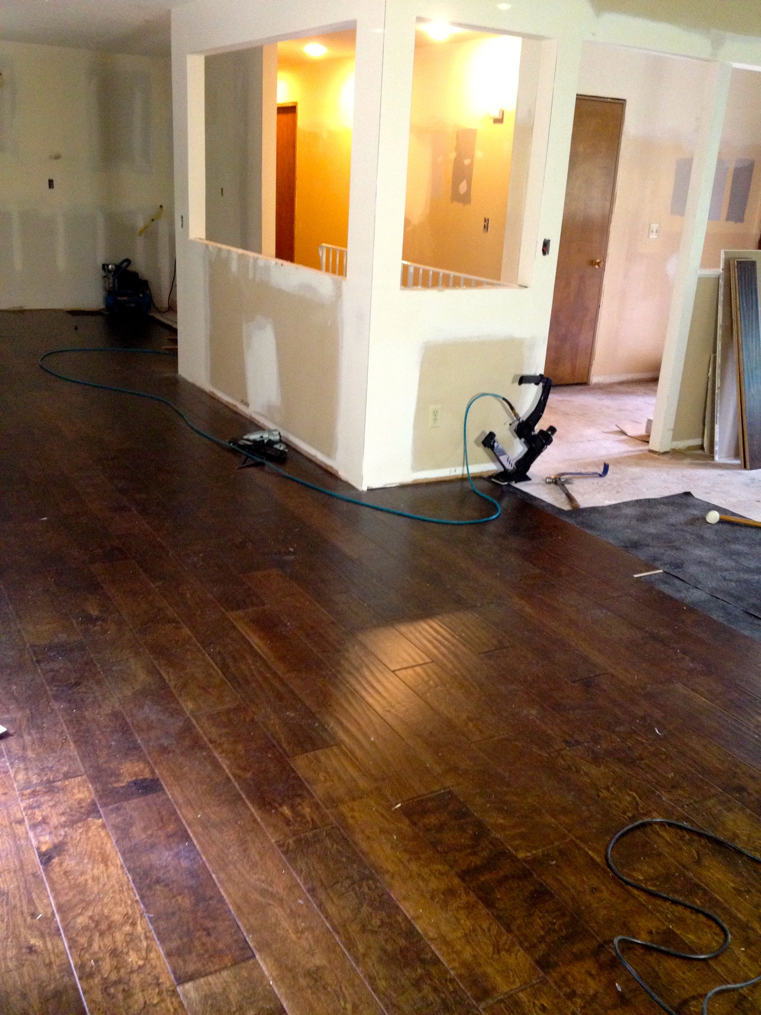 Walls moved & new Engineered Flooring in the Kitchen area