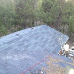 New roof and overhang addition