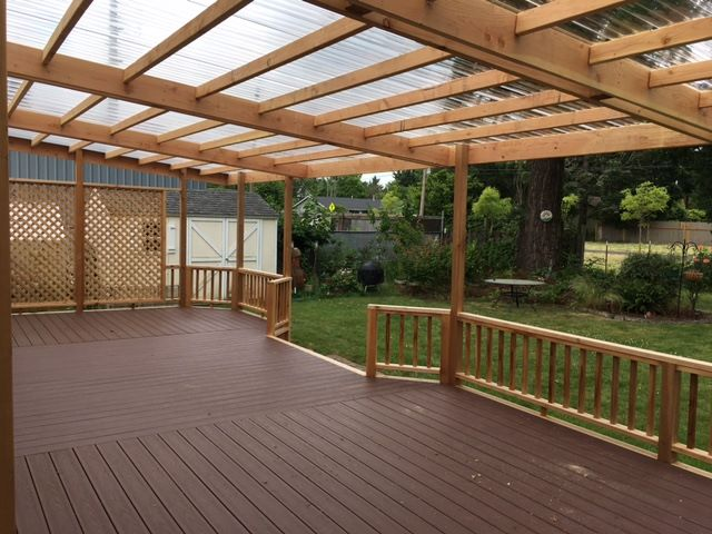 Composite deck with cover