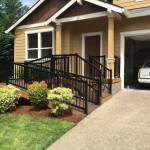 Wheelchair ramp and Alumarail with pickets