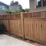 lear Cedar custom fence with 6x6 posts