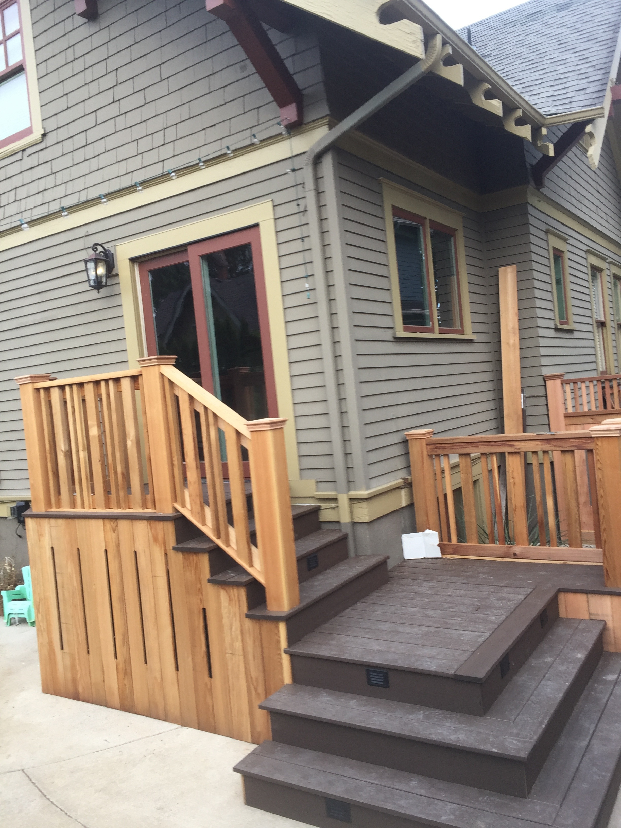 Clear Cedar custom rails
