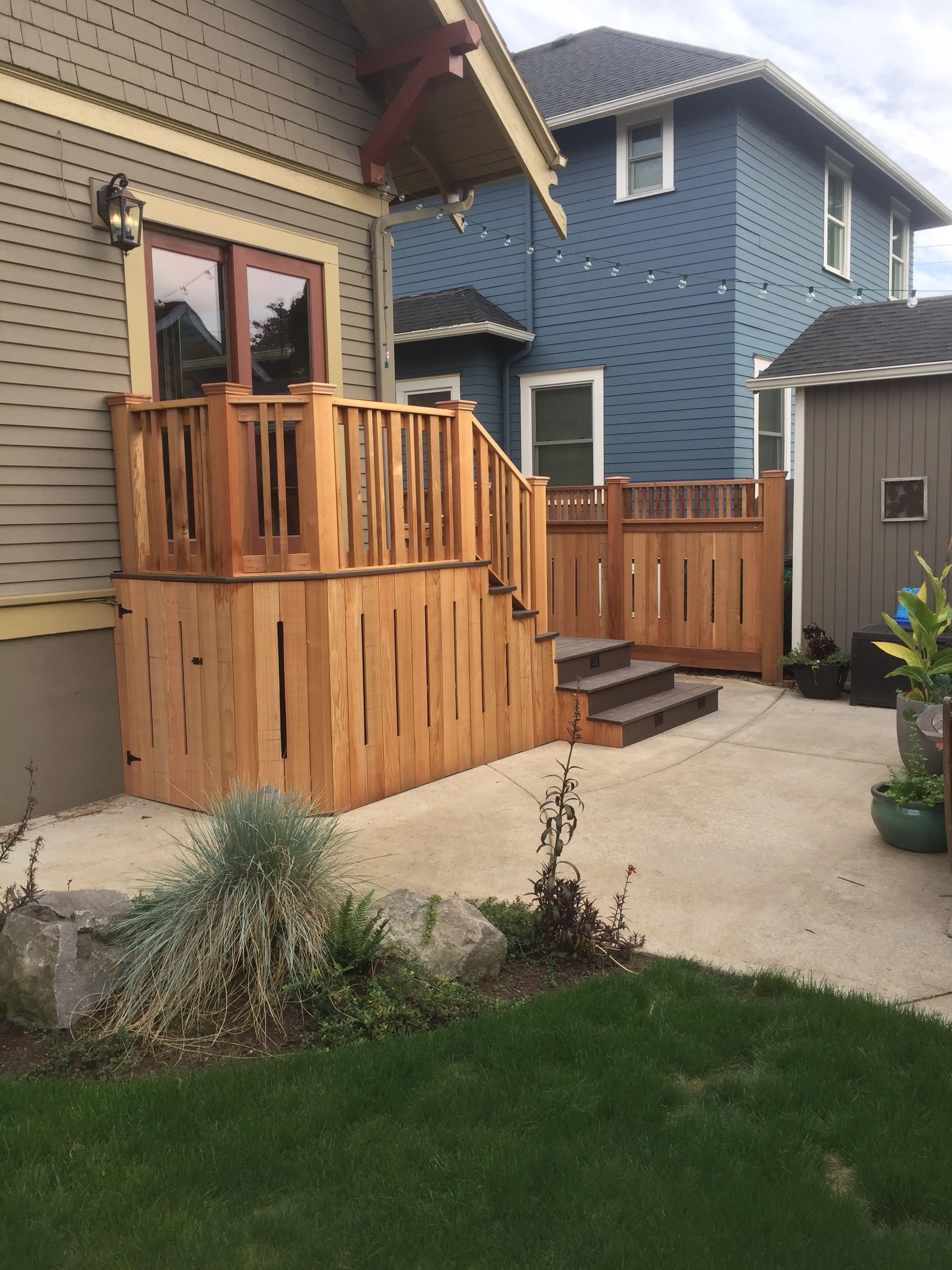 Clear Cedar custom wrap and rails