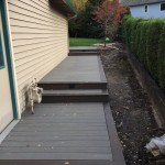 Timbertech decking and border