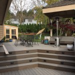 Timbertech steps, decking and border